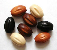 25 - 7x10mm CARVED OVAL wood wooden beads - High Quality