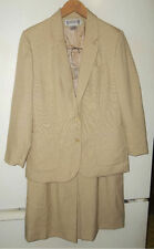 EXCELLENT USED CONDITION WORTHINGTON JACKET & SKIRT SIZE 10 12 TAN