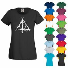 T SHIRT DEATHLY HALLOWS Stylish Fashionable Womens New Printed Harry T-Shirts