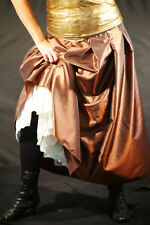 Steampunk-Victorian-Cosplay-LARP-Ladies COPPER TAFFETA SKIRT Sml-Plus Sizes