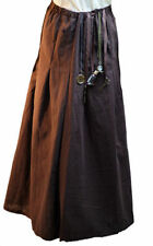 Victorian-Steampunk-SciFi-Cosplay-LARP-BROWN COTTON SKIRT-Fancy Dress All Sizes