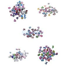 Colorful DIY Charms Loose Beads Bracelet Jewelry Making Findings Crafts 2mm Hole