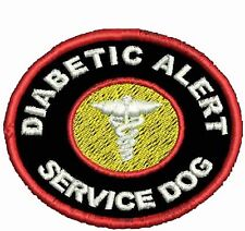 Diabetic Alert Service Dog Patch Round Dog Vest Patch Crest Working Dog