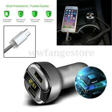 Universal 5V 3.4A Dual USB 2 Ports Car Charger LED Display For Samsung IPhone 7