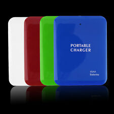 Portable USB 4AA Battery Travel Emergency Charger Power Bank Case For Cell PhoRK