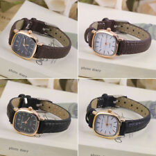 Vintage Round SHape Small Dial Women Lady PU Leather Wrist Watch Best Gift HT
