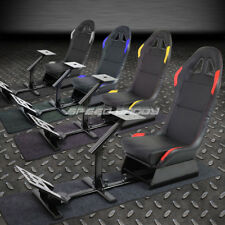 COCKPIT DRIVING SIMULATOR RACING SEAT GAMING CHAIR W/GEAR PEDALS MOUNT KIT