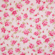 100% Cotton Fabric - Dusky Vintage Pink Floral - Rose & Hubble - Cut from Roll