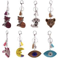 Bling Bling Animal Eye Charm Key Chain Ring Handbag Accessory Lobster Clasp