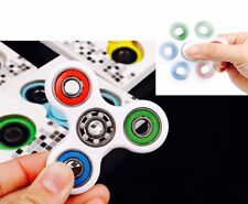 White Tri-COLOR Ceramic Ball Fidget Spinner,Rare Collection . Ship From New York