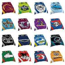 2017 NRL QUEEN Bed Quilt Cover Doona Pillow Case Set All Teams Available!