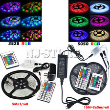 10M/5M SMD 5050/3528 RGB 150/300 LED STRIP ADAPTER IR REMOTE CONTROLLER KIT