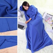 Snuggle Wrap Fleece Blanket With Sleeves Summer Quilt Soft Cool Robe Cloak US