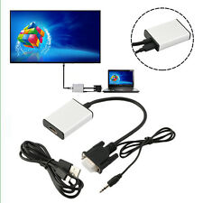 1080P HD VGA to HDMI + USB Audio Video Adapter Converter Cable For Laptop HDTV~M