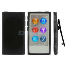 HARD SHELL CASE COVER WITH BELT CLIP HOLSTER FOR APPLE iPOD NANO 7 7th GEN