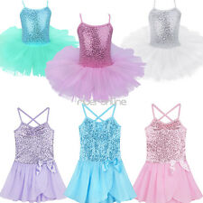 Girl Toddler Princess Ballet Dress Sequined Leotard Starps Tutu Skirt Dancewear