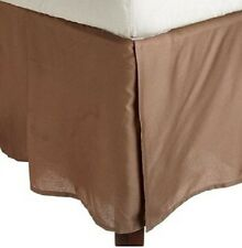 1 Qty Bed Skirt/Valance 1000 TC Egyptian Cotton 35 Drop ~AU Taupe Solid