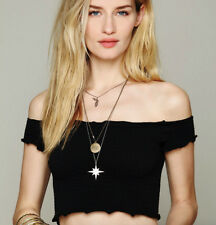 NEW Free People Intimately Smocked Crop Top in Black Size XS/S & M/L $54.11