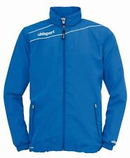 Uhlsport Mens Presentation Sports Football Breathable Zip Jacket Top Blue White