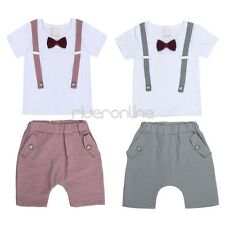 Baby Boy Toddler Short Sleeve Outfits Clothes Tops+Shorts Pants Gentleman Suit