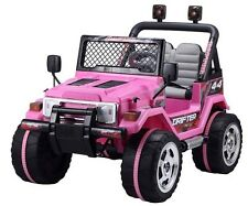 Kids 2 Seater 12v Electric Battery Ride on car Jeep 4 x 4 Pink