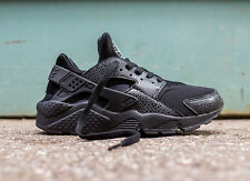 Nike Air Huarache Triple Black Lizard Sizes UK 4-9.5 Deadstock Limited Edition