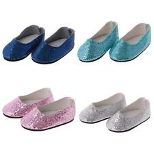 Pair of Cute Bling Bling Sequins Shoes Fit for 18'' American Girl Journey Dolls