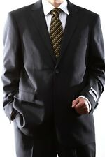 MENS 2 BUTTON SUPER 140S WOOL MAX CHARCOAL DRESS SUIT, 40712N-40702-CHA