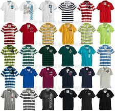 AEROPOSTALE MENS POLO SHIRT T-SHIRT GRAPHIC STRIPED A87 LOGO NWT BUTTONS COLLAR