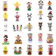 25 Types Solar Powered Bobbling Dancing Figure on Stage Toy Car Desk Decoration