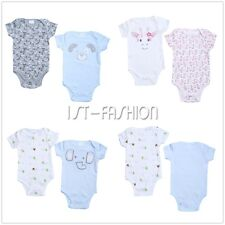 2Pcs Infant Newborn Baby Boy Girl Romper Jumpsuit Bodysuit Cotton Clothes Outfit