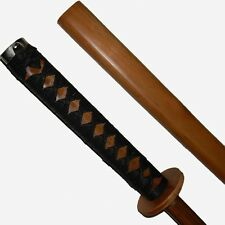 Red Oak Bokken With Scabbard & Black Binding