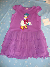 DISNEY DAISY DUCK SLEEVELESS SUMMER DRESS RUFFLED BOTTOM NWTS SO CUTE!!!