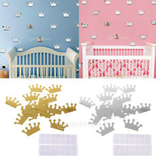 10pcs Mirror Surface Crown Removable Wall Sticker Decals Baby Nursery Room Decor