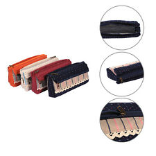 Country Style Student Pencil Pen Case Box Makeup Pouch Pocket Brush Holder Bag