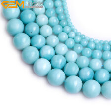 4-12mm AAA Grade Natural Round Pure Amazonite Beads Gemstone Jewelry Making 15''