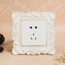 Resin Single Light Switch Surround Socket Finger Plate Panel Cover Modern Decor