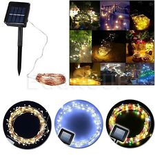 100~200 LED Solar Power Garden Outdoor Fairy String Light Xmas Party Lamp Kits
