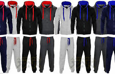 CHEAP MENS FLEECE HOODED TRACKSUIT HOODIE JOGGERS  SIZE S-XL SWEATS 12 COLS