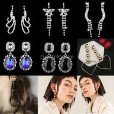 Elegant Fashion Bridal Lady Tassel Crystal Rhinestone Ear Stud Earrings 7 Styles