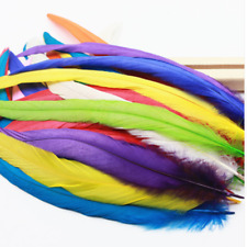 "10pcs Beautiful color badger saddle pretty Rooster feathers 12-14""inch"