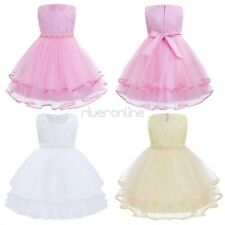 Kids Baby Girls Princess Dress Flower Tulle Party Prom Wedding Communion Formal