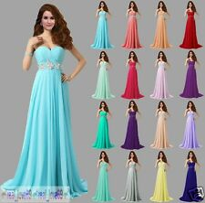 Long Formal Wedding Evening Party Cocktail Ball Gown Prom Bridesmaid Dress 6-18