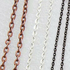 """MERZIEs 20"""" silver, 21"""" copper, 20"""" black U PICK plated chain - SHIPs from USA"""