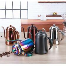 650ml Stainless Steel Coffee Tea Pot Pour Over Kettle Long Narrow Spout Kitchen