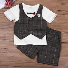 baby boy clothes summer T-shirt short pants kids Formal Suit Infant Party Outfit