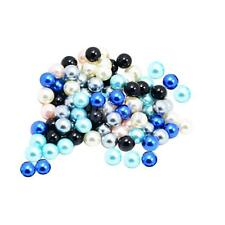 100 Pieces Mixed colors acrylic Faux Pearl Round Beads Charm Style