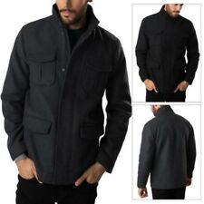 Threadbare Mens Wool Mix Jacket Smart Casual Collared Power Utility Over Coat