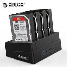 """Clone ORICO 4 Bay or Dual Bays 2.5"""" 3.5 inch HDD SSD Hard Drive Docking Staion"""