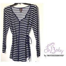 Oh Baby by Motherhood Maternity Blue & White Striped Blouse S M L XL NWT